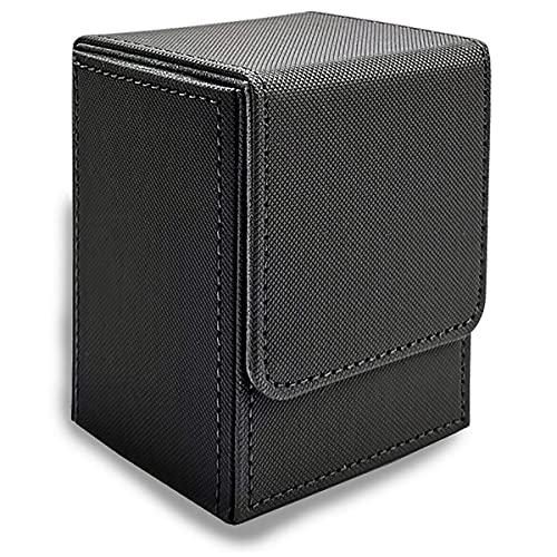 suniode Caja para 100 tarjetas, sin PVC, cierre magnético, sin PVC, para tarjetas de juego
