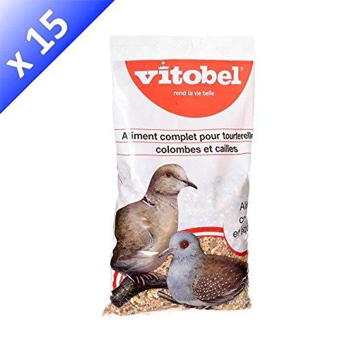 VITAKRAFT Menu tourterelles coussin - Mélange de graines - Pour tourterelles - 850g (x15)