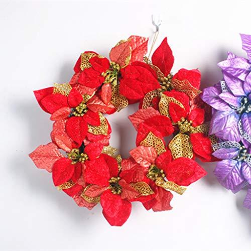 ZXPAG Pre Lit Kerstkransen voor voordeur kerstkrans voor voordeur opknoping muur raam bruiloft partij decoratie -