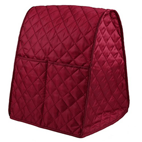 RONSHIN TOP Dustproof Waterproof Cloth Quilted Blender Cover Organizer Bag for Kitchen Mixer red