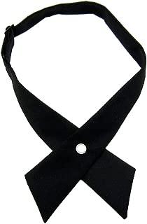 Tie for Men Women Adjustable Criss-Cross Bowtie School Uniform Pre Tied Bows for Girls Neck Tie Accessories PTK03