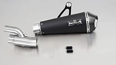Remus HyperCone Slip On Silencer Muffler Exhaust Can for 2017+ BMW S1000RR 2R10, 146 kW with EC Homologation (Stainless Steel Black)