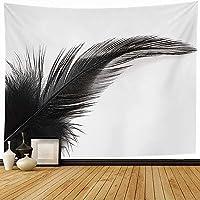 タペストリー壁掛け灰色白鳥黒羽白動物クローズアップ野生動物抽象的な空気フライアップバードクロウチキンクローズ180x200cm
