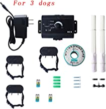 In-Ground Fence Systems and Waterproof Receiver Collar,Underground Electric Pet Fence,Stay & Play Invisible Wire Fence for Stubborn Dogs,Area-up to 5000 Square Meters (Over 1.2 Acres)
