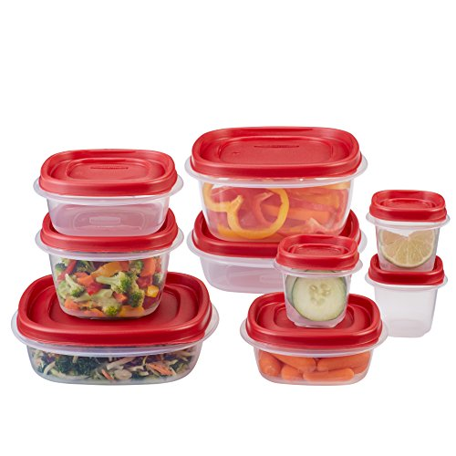 Check Out This Rubbermaid Easy Find Lids Food Storage Containers, Racer Red, 18-Piece Set