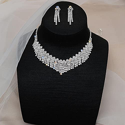YZYZ Collar Retro Europeo Y Americano, Collar, Cadena para El Cuello, Ancla De Piedras Preciosas, Accesorios Femeninos, Vestido De Fiesta, Conjunto De Diamantes, Vestido De Novia