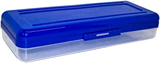 HQ Advance Products Plastic School Box, Extra Long, Assorted Color Tops (38006)