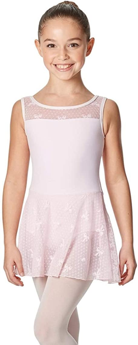 Young Dancer Skirted Leotard - Pink- Perfect for Dance Class - Size 8