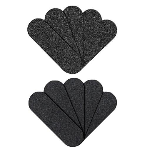 Foot File Refills, Abrasive Pedicure File Replacement Pads Black Pack of 50 (Black)