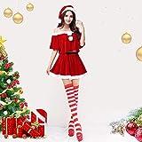Wooce クリスマス コスチューム サンタコス サンタワンピース サンタ コスプレ サンタクロース 衣装 サンタ クリスマス レディース ワンピース 女の子用 パーティー かわいい セクシー 人気 フリーサイズ