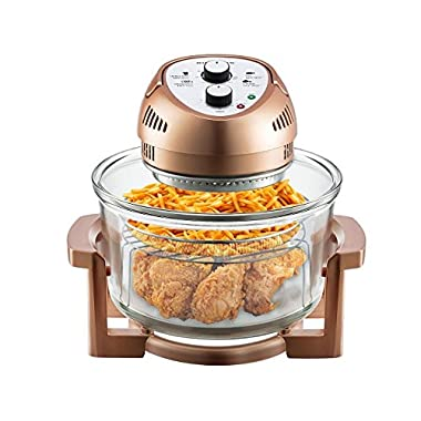 Big Boss Oil-less Air Fryer, 16 Quart, 1300 watt, Limited Edition Copper