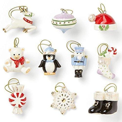 Lenox Christmas Memories 10-Piece Ornament Set, 0.50 LB, Multi