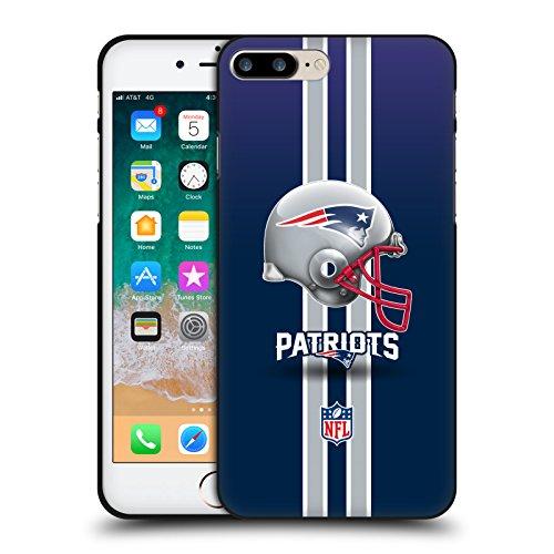 Head Case Designs Licenciado Oficialmente NFL Casco Logo de los Patriotas de Nueva Inglaterra Funda de Gel Negro Compatible con Apple iPhone 7 Plus/iPhone 8 Plus