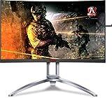 AOC Agon AG273QCG 27' Curved Gaming Monitor, 2K QHD, G-Sync, 165Hz, 1ms, Height Adjustable, DisplayPort/HDMI, VESA, 4-Yr Zero Dead Pixel Guarantee