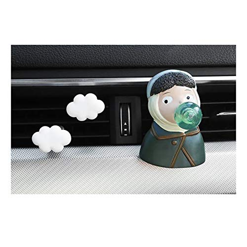 Ambientador de coche para mujer famosa pintura ambientadores de coche (Van Gogh, una chica con un pendiente de perlas) clip de perfume de yeso Arom-a difusor ambientadores de aire