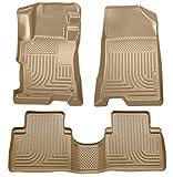 Husky Liners 98403 Fits 2008-12 Honda Accord 4 Door Weatherbeater Front & 2nd Seat Floor Mats , Tan