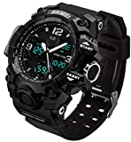Men's Analog Sports Watch, LED Military Wrist Watch Large Dual Dial...