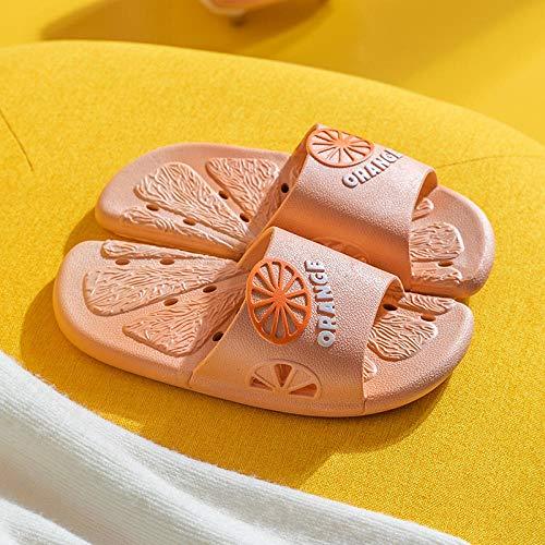 XZDNYDHGX Chanclas Unisex Adulto,Zapatillas de Pareja Antideslizantes de Verano Suaves, toboganes de baño para el hogar en Interiores Zapatos Casuales al Aire Libre Rosa EU 37-38