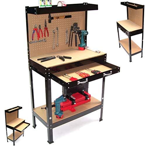 Werkbank ECO Werktisch Arbeitstisch 06061 Arbeitsplatte Lochwand Werkstatt Regal