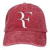 Yuantaicuifeng Roger_Federer - Gorra de béisbol unisex, color natural, vintage, lavado teñido, color negro...
