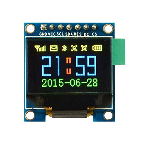HiLetgo 0.95インチ SPI OLEDディスプレイモジュールフルカラー65KカラーSSD1331 7ピンArduinoに対応