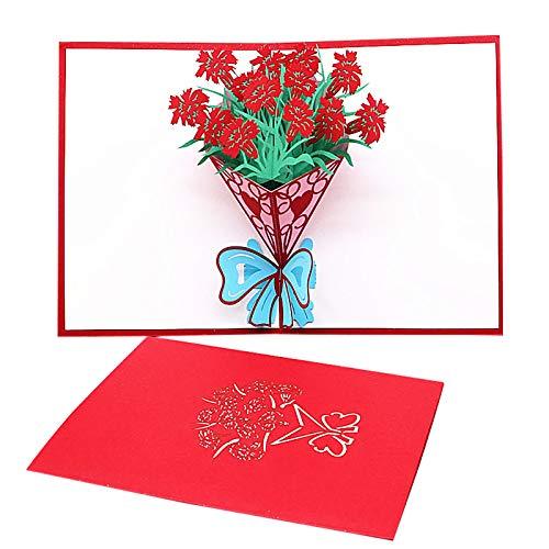 Corlidea Pop Up Karte 3D Grußkarten Geburtstagskarte Hochzeitskarte, Wedding Card Glückwunschkarte Geburtstags Muttertags Hochzeitstag Hochzeit