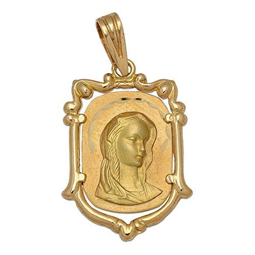Medalla de Oro de 18 KL. con la Virgen Niña 17 x 25 Mm. una Joya Muy Original con la Que podrás Hacer niña Que Tome su Primera Comunión, será un Recuerdo para Siempre