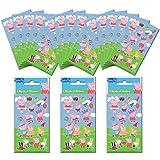 Paper Projects 01.70.24.057 Peppa Pig - Juego de pegatinas para fiestas (18 hojas), 12,5 cm x 7,5 cm