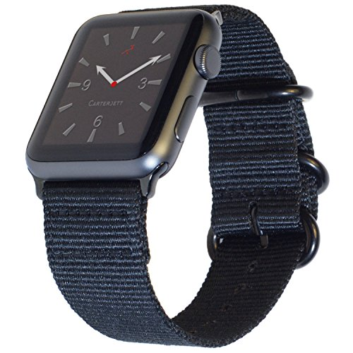 apple watch series 6 price drops as low as 339 today only Carterjett Compatible with Apple Watch Band 38mm 40mm Nylon iWatch Bands Replacement Military Style Strap, Loop Buckle Series 6 & SE Series 5 4 3 2 1 Sport Nike Edition (38 40 S/M/L Black)
