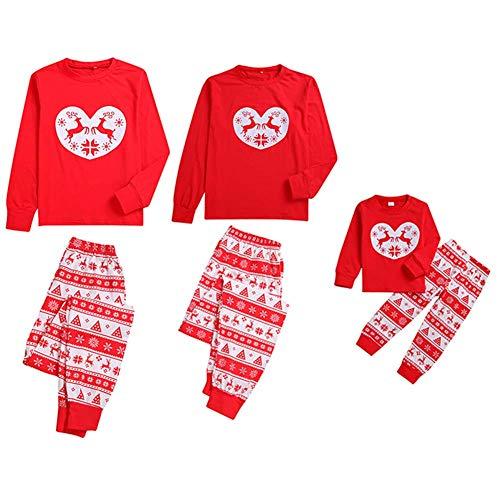 Weihnachten Familie Pjs passende Pyjama Set Hirsch gedruckt 2 Stück Kind Papa Mama Kleidung Set