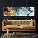 Farbe Kunst Abstrakt Wandkunst Leinwand Wohnzimmer Wandbild Dekoratives Gemälde (ohne Rahmen) R1 35x120CM