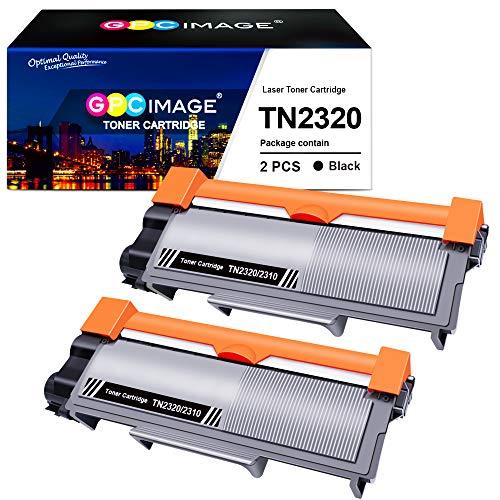 GPC Image Tonerkartusche Kompatible für Brother TN2320 TN2310 TN 2320 2310 für MFC L2700DW L2720DW, für DCP-L2520DW L2500D L2560DW, für HL-L2365DW L2300D L2340DW L2360DN(Schwarz, 2er-Pack)