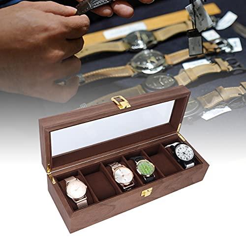 Tenpac Caja de Reloj, Soporte de exhibición de Reloj Caja de Reloj Organizador de Caja de Reloj Vintage 12.4 X 4.3 X 3.1 Pulgadas para Hotel para Oficina para Reloj para joyería para el hogar