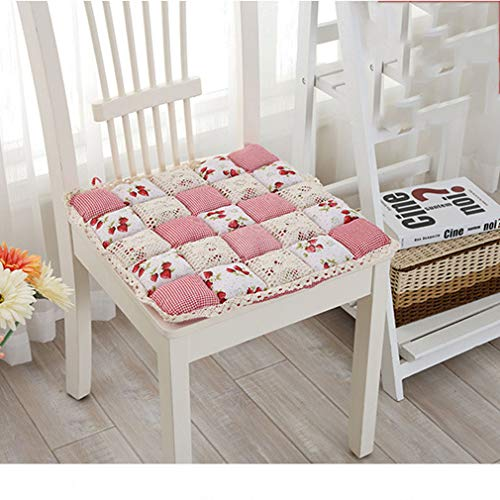 Albrose Vintage Country Lace Bread Hard Filling Chair Pads Cushion Pink Strawberry 2 Piece Set