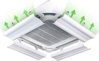 JJSFJH Aire acondicionado viento Universal Central Anti-recto Soplado Salida de aire frío Deflector Deflector Campana Ventilación Aire acondicionado Parabrisas Plegable General Tipo de suspensión de p