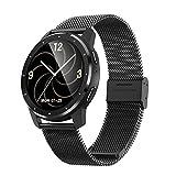 KUKU Smart Watch, Fitness Tracker, con Monitor De Frecuencia Cardíaca, Rastreador De Actividades, con Pantalla Táctil De 1.28 Pulgadas, Pedómetro Impermeable IP68,Negro,1