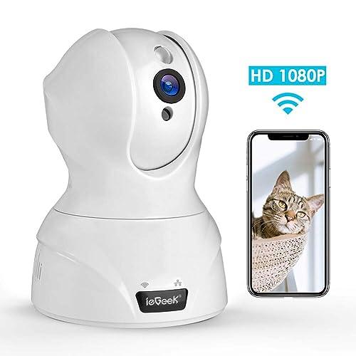 【WiFi強化改良版】ネットワークカメラ 1080P ペット 監視カメラ wifi スマホ対応 見守り ワイヤレスipカメラ 室内 ベビーモニター 防犯 暗視 sd 録画 動体検知 白色