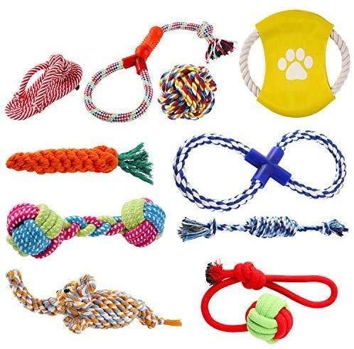 pedy Hundespielzeug Set,Hundeseile, interaktives Spielzeug,Pet...
