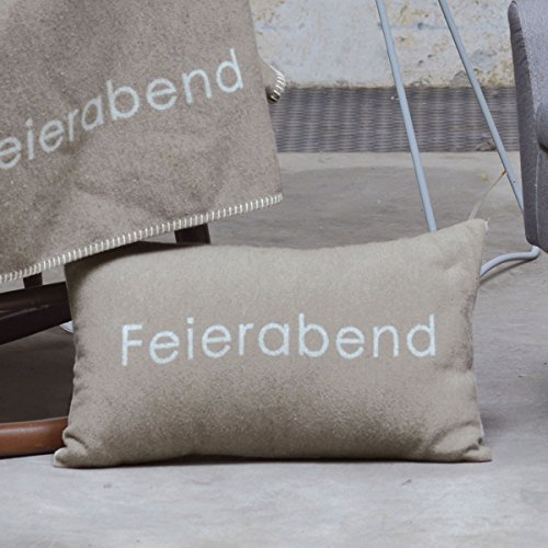 David Fussenegger - SILVRETTA Kissen Feierabend Rauch 30 x 50 cm