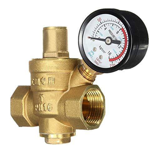 """HGFHGD 3/4""""Messing-Wasserdruckreduzierventil mit Manometer"""