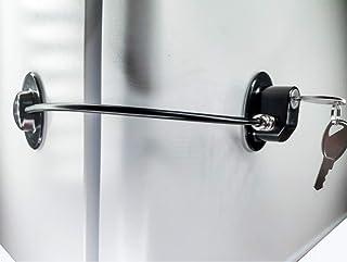 Refrigerator Door Lock with 2 Keys, File Drawer Lock, Freezer Door Lock and Child Safety Cabinet Lock by REZIPO Black