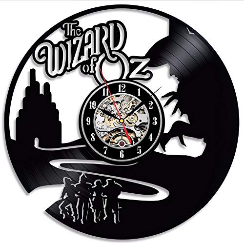 Preisvergleich Produktbild txyang The Wizard of OZ Vinyl Record Wall Clock Decorate Your Home with Modern Art Gift for Kids Girls and Boys Win a Prize for