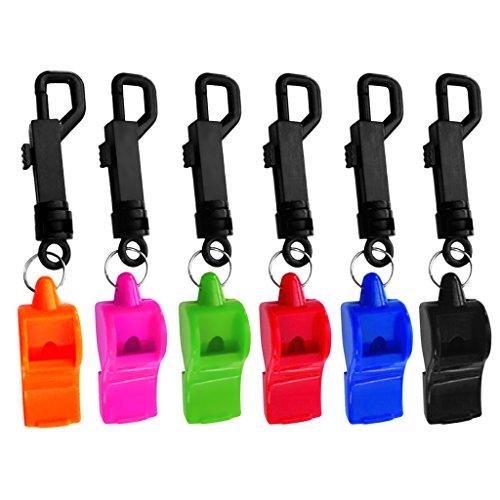 Sharplace 6 Pcs Sifflet De Sécurité De Survie d'urgence avec Cordon Clip pour Camping Plongeurs