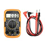 Misura Digital DT830D + LCD multimetro AC/DC Pressione di Tensione Current Meter Tester di Resistenza del Tester del rivelatore Piezometro Strumenti di Layout (Color : Orange, Size : One Size)