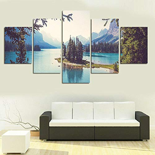 GLNB 27 Piezas de Arte Marco Cuadros Decoracion Salon Hermoso río Natural Moderno HD sobre lienzos impresión Cuadro Usado para Sala Oficina Hogar Decoracion de Pared
