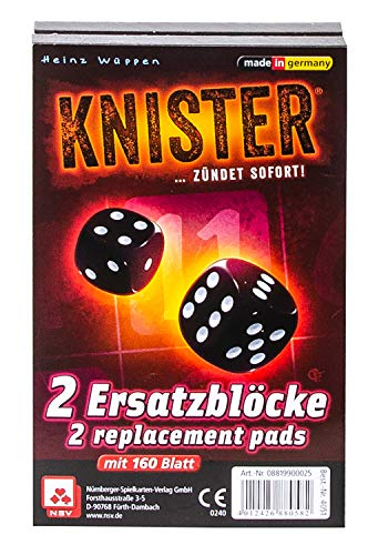 NSV - 4051 - KNISTER - Ersatzblöcke 2er Set - Würfelspiel