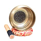 Bouddhiste Tibétain Chant Bol Décoration Artisanat Esprit Silencieux Chakra Guérison Yoga Bol, Yoga Cuivre Chakra Méditation Bol (Color : Metallic, Taille : 16.5cm)