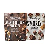 Fannie May Milk Chocolate S'mores 18 oz Snack Mix + Peanut Butter Filled Pretzel 22 oz Snack Mix