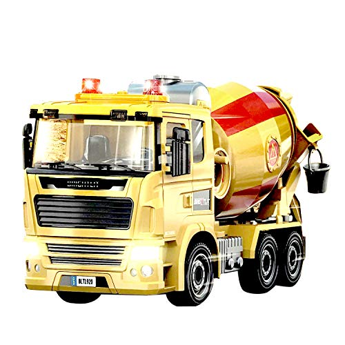 Sania Store- Mixer Truck Toy - Construction Truck Toys for Kids, Friction Powered Vehicles with Sound and Light, Concrete Truck Toy, Play Toys | DIY Take Apart Toys – Building Toys for 3-year-old boys