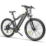 SAWOO Bicicleta de montaña eléctrica de 27,5 Pulgadas 400W 13ah Freno de Disco de batería extraíble, Shimano 21 velocidades, Bicicleta eléctrica de Playa para Adultos